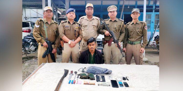 Md Karim Khan aka Kalu in police custoday. Image: Northeast Now