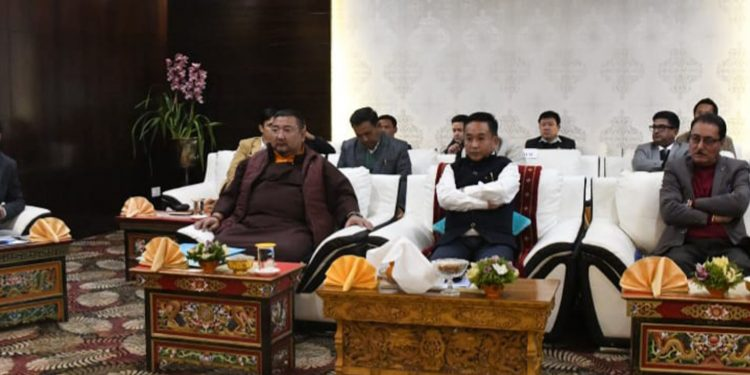 Sikkim CM Prem Singh Tamang discussing on preventive measures on coronavirus. Image: Northeast Now