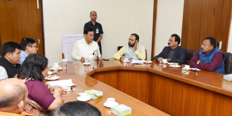 Assam CM Sarbananda Sonowal's review meeting on development of Sivasagar as iconic site