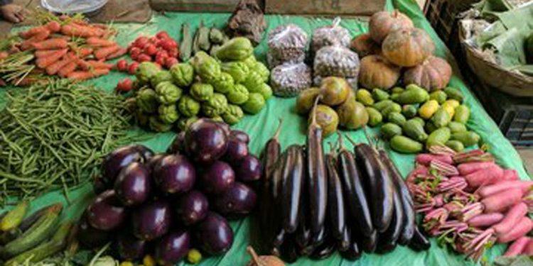 Vegetable market in Guwahati