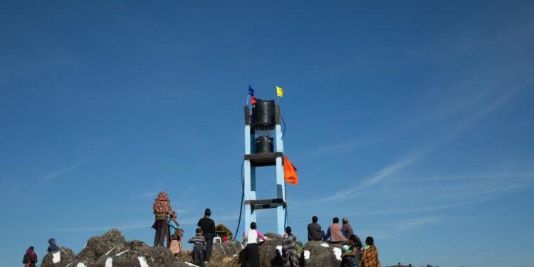 Hydraulic ram pump at Mawphanlur village in Meghalaya