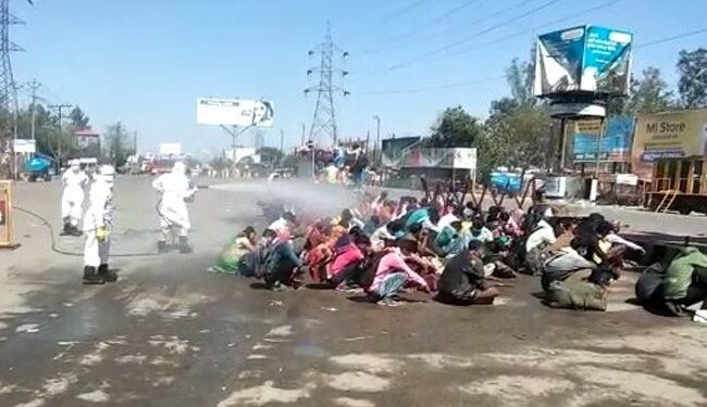 The migrant workers in the video had returned to UP over the weekend.