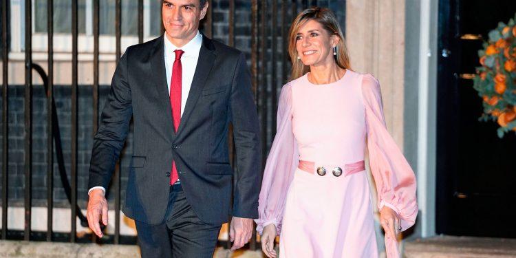 Spanish Prime Minister Pedro Sanchez and his wife Maria Begona Gomez.