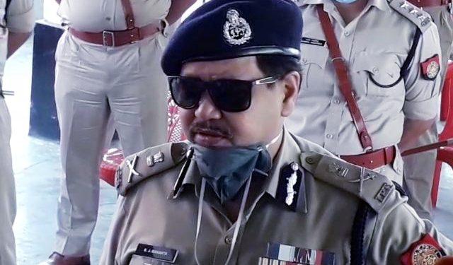 Assam DGP Bhaskarjyoti Mahanta at Mangaldai on April 4, 2020. Image: Northeast Now