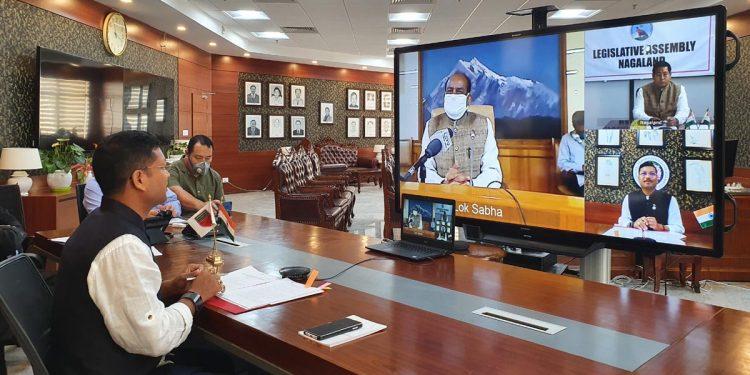 Arunachal Pradesh deputy speaker interacts with LS speaker on COVID19 situation 1