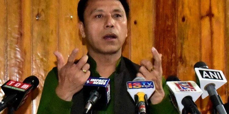 File image of Manipur education minister Dr Thokchom Radheshyam. Image: DIPR, Manipur