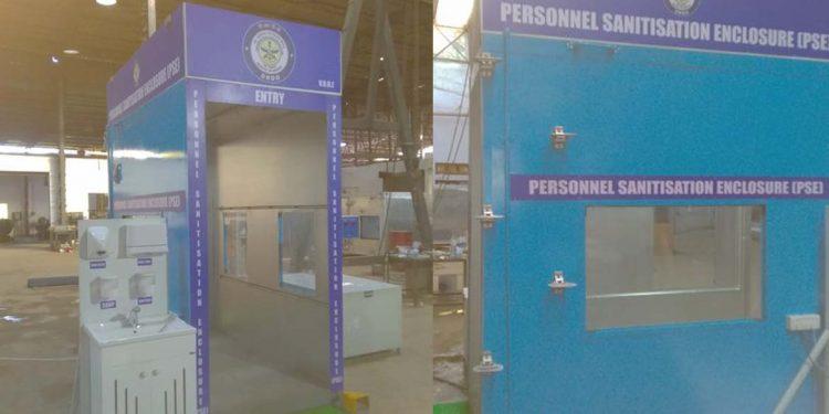 DRDO Portable Sanisation Enclosure