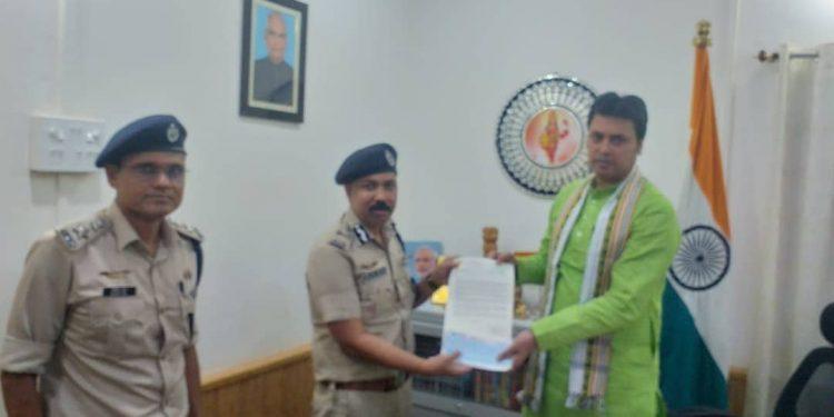 Tripura Police cheque