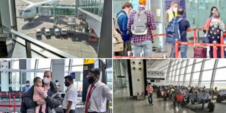 Foreign nationals leave Kolkata