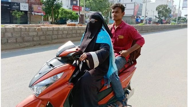 Razia Begum rode on her scooty for nearly 1400 km from Telangana to bring back her 19-year-old son from Nellore.