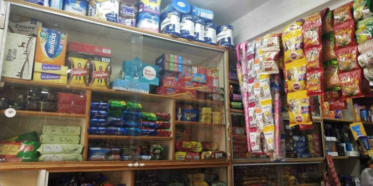 Grocery shop in Shillong