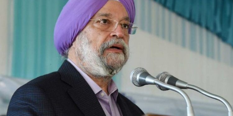 File image of Civil aviation minister Hardeep Singh Puri. Image courtesy: Times Now