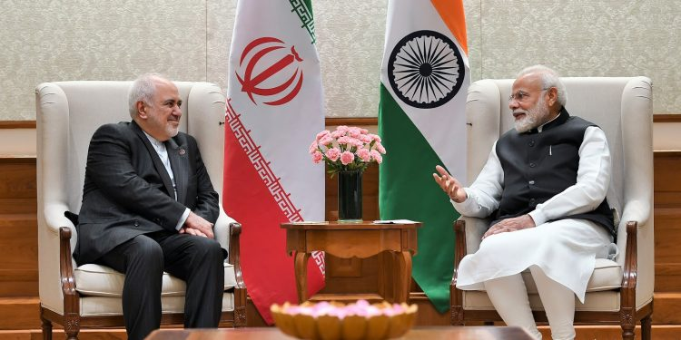 File image of Iranian foreign minister Javad Zarif with Prime Minister Narendra Modi. Image courtesy: PIB