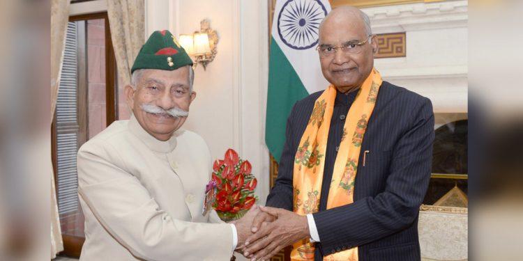 BD Mishra with Ram Nath Kovind