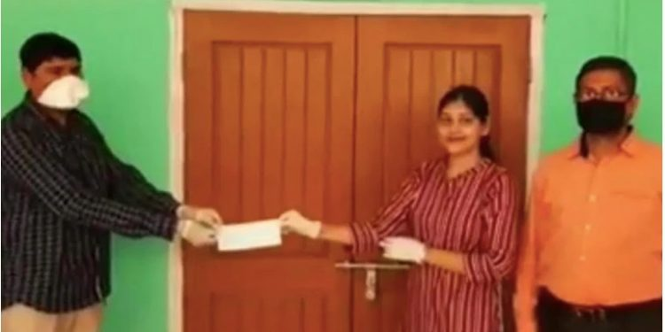 Reema Ghosh donated the amount which her parents were saving for her marraige.