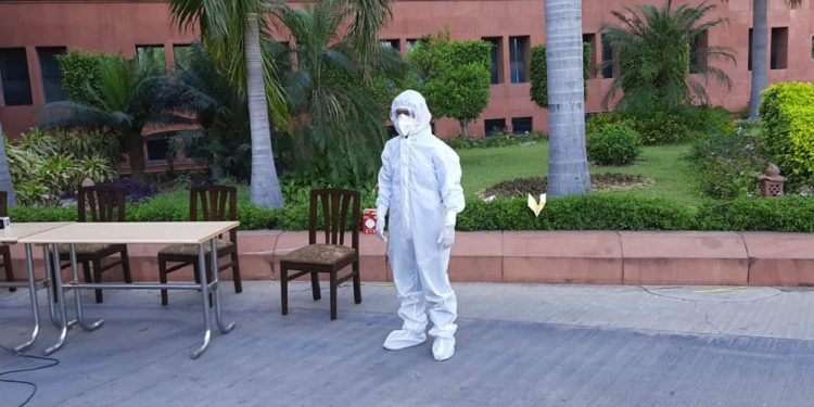 The bio-suit developed by the DRDO. Image credit: PIB