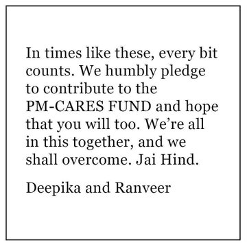 Deepika-Ranveer pledge to contribute to PM CARES fund 1