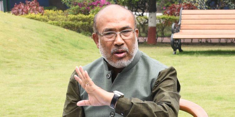 Manipur CM N BIren Singh. Image: Northeast Now