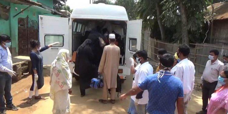 People in Tripura sent to quarantine. Image: Northeast Now.