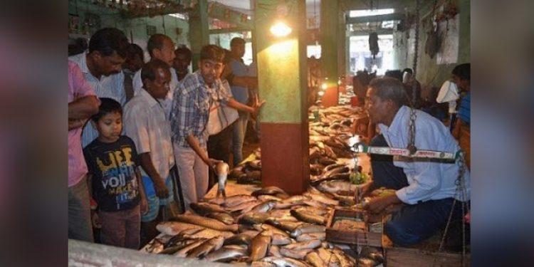 Fish market in Tripura