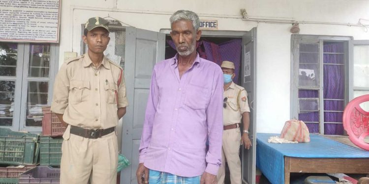 One of the three persons arrested by Hailakandi police for siphoning rice meant for poor. Image: Northeast Now