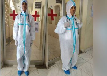The coverall suit developed by CSIR-NAL. Image credit: PIB