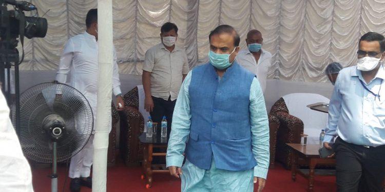 Assam health minister Himanta Biswa Sarma in Kokrajhar district on Thursday. Image: Northeast Now