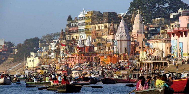 A ghat in Varanasi. Image credit: Encyclopedia Britannica