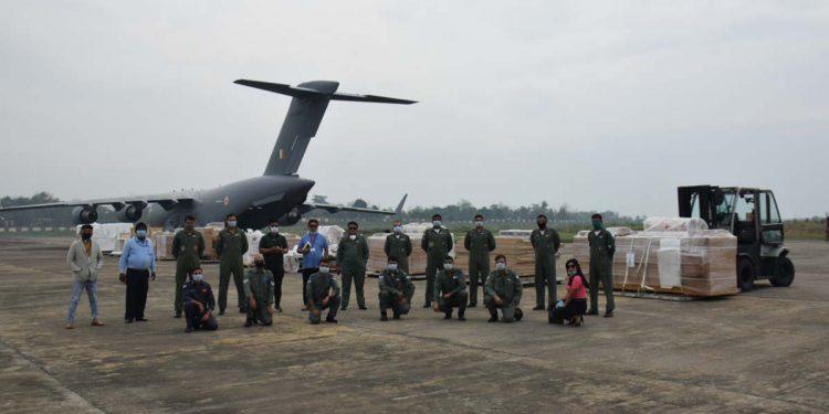 IAF flight at Dimapur airport