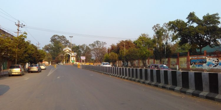 A view of a street in Imphal during lockdown. Image: Northeast Now