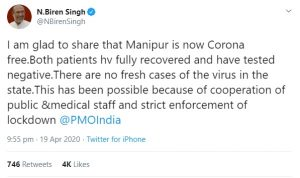 Manipur becomes COVID-19 free 3