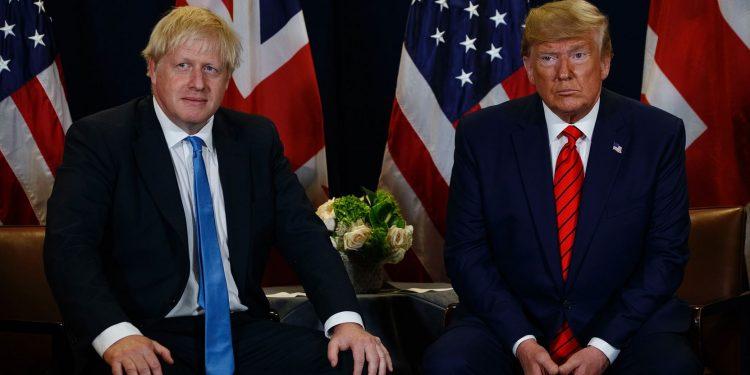 File image of British Prime Minister Boris Johnson (left) with US President Donald Trump. Image courtesy: The Quint