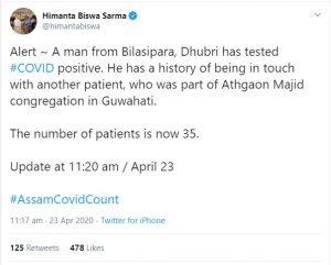 Assam: Another COVID-19 case emerges in Bilasipara 1