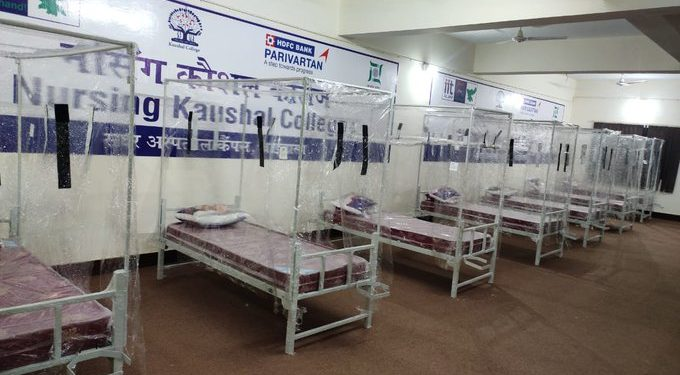 A COVID-19 hospital in Jharkhand