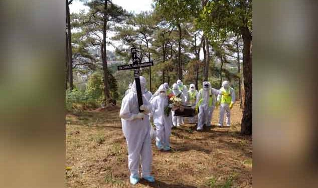Dr. Sailo Rynthathiang laid to rest as per WHO guidelines at Presbyterian Cemetery at Lawmali in Shillong 1