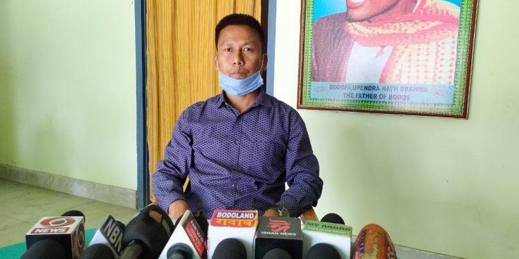 ABSU president Dipen Boro
