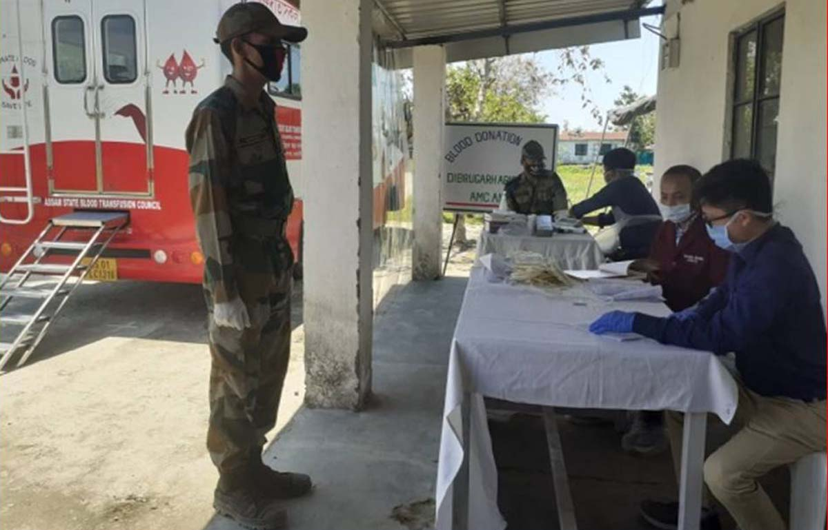 Army blood donation camp