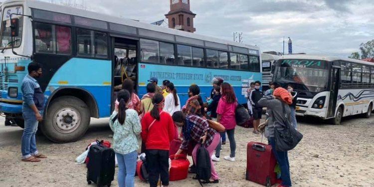 Stranded people in Arunachal