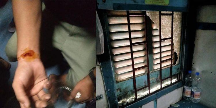 Attack on train in Bihar