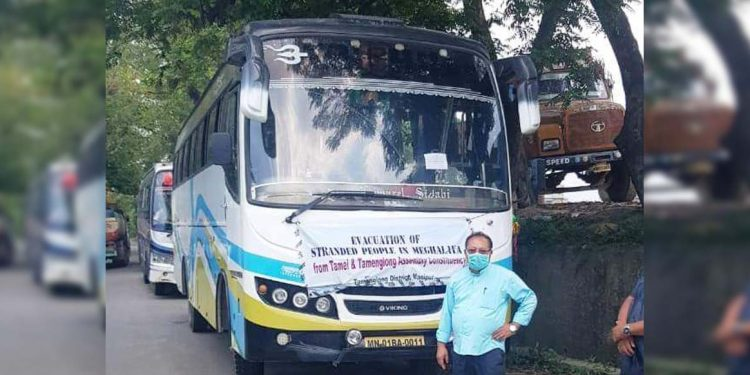 Bus from Imphal to Shillong