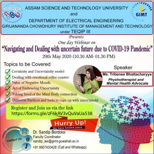 GIMT Guwahati to host webinar on navigating & dealing with uncertain future due to COVID19 pandemic 2