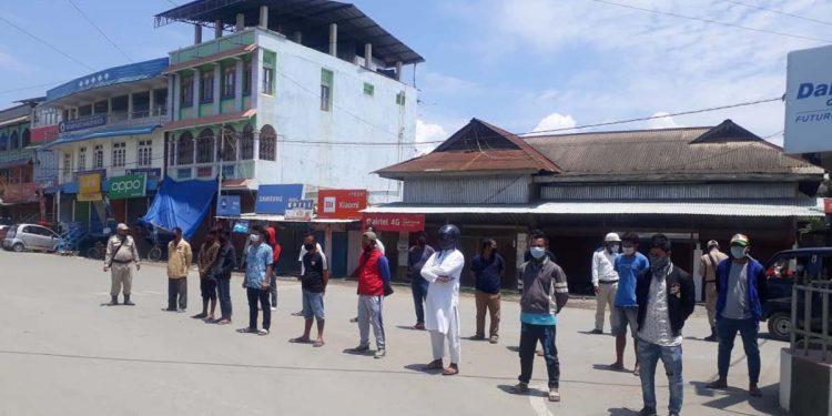 Manipur lockdown violators