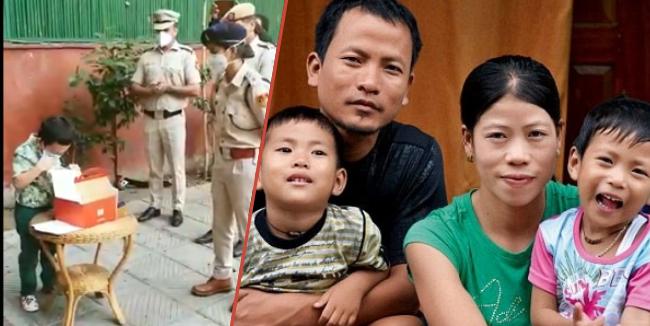 "Delhi Police sings ""Happy Birthday…."" for Mary Kom's son amid lockdown 1"