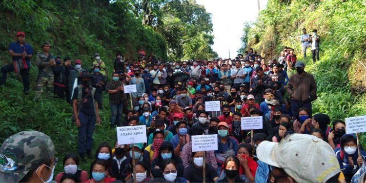 Mizos protest in Jampui