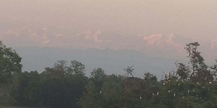 Mt Everest from Bihar village