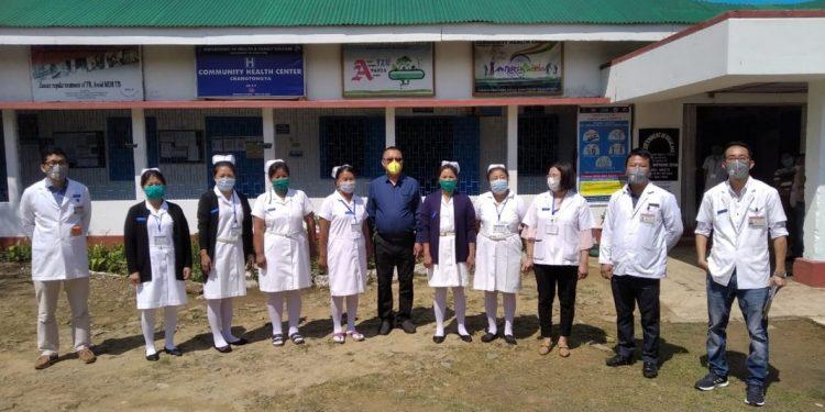 Nagaland health minister S. Pangnyu Phom visits Changtongya CHC.