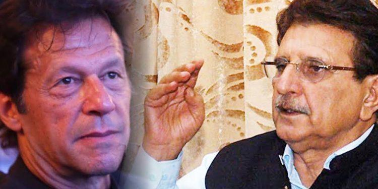 Joint up image of Pakistan Prime Minister Imran Khan and PoK PM Raja Farooq Haider. Image courtesy: Youtube
