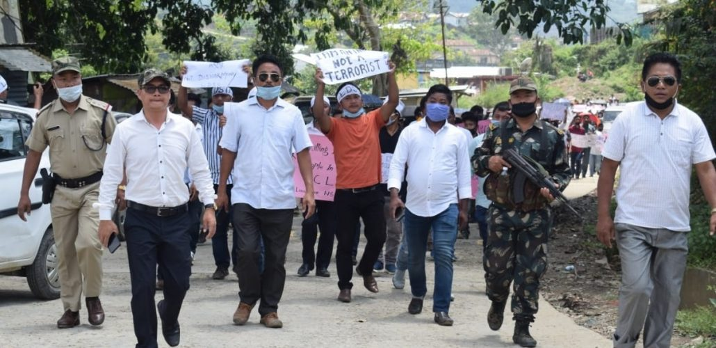 Amid lockdown, Arunachal groups take out protest march against killing of civilian by Army 1
