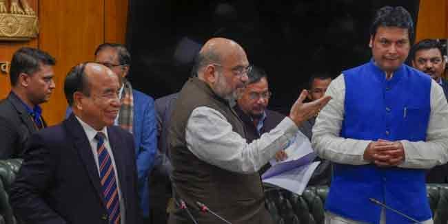 Amit Shah mixes up Bru-Reang refugee issue with Bodo Accord signed with NDFB factions 1
