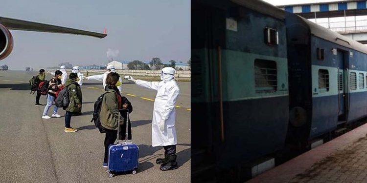 Returnees on train flights